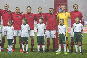 Nicolai J�rgensen (Danmark), Jens Stryger Larsen (Danmark), Thomas Delaney (Danmark), Christian Eriksen (Danmark), Peter Ankersen (Danmark), Kasper Schmeichel (Danmark), Simon Kj�r (Danmark)