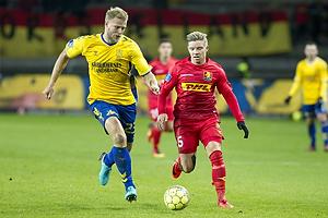 Paulus Arajuuri (Br�ndby IF), Mads Mini Pedersen (FC Nordsj�lland)