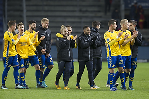 Lasse Vigen Christensen (Br�ndby IF), Simon Tibbling (Br�ndby IF), Anthony Jung (Br�ndby IF), Paulus Arajuuri (Br�ndby IF), Kasper Fisker (Br�ndby IF), Hany Mukhtar (Br�ndby IF), Kevin Mensah (Br�ndby IF), Kamil Wilczek (Br�ndby IF), Hj�rtur Hermannsson (Br�ndby IF), Jan Kliment (Br�ndby IF)