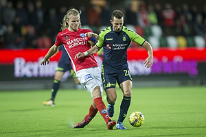 Simon Jakobsen, anf�rer (Silkeborg IF), Kamil Wilczek (Br�ndby IF)