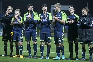 Teemu Pukki (Br�ndby IF), Kasper Fisker (Br�ndby IF), Anthony Jung (Br�ndby IF), Christian N�rgaard (Br�ndby IF), Paulus Arajuuri (Br�ndby IF), Lasse Vigen Christensen (Br�ndby IF), Simon Tibbling (Br�ndby IF)
