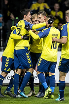 Teemu Pukki (Br�ndby IF), Hany Mukhtar (Br�ndby IF), Christian N�rgaard (Br�ndby IF)