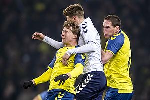Simon Tibbling (Br�ndby IF), Kasper Junker (Agf), Benedikt R�cker (Br�ndby IF)
