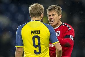 Teemu Pukki (Br�ndby IF), Steffen Rasmussen (Agf)