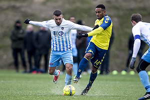 Valon Ljuti (FC Roskilde), Kevin Mensah (Br�ndby IF)