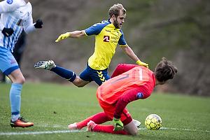 Teemu Pukki (Br�ndby IF), Frederik August Schram (FC Roskilde)