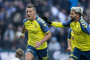 Kamil Wilczek, m�lscorer (Br�ndby IF), Anthony Jung (Br�ndby IF)