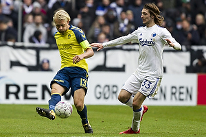 Johan Larsson, anf�rer (Br�ndby IF), Rasmus Falk (FC K�benhavn)