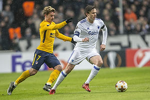 Antoine Griezmann (Atletico Madrid), William Kvist, anf�rer (FC K�benhavn)