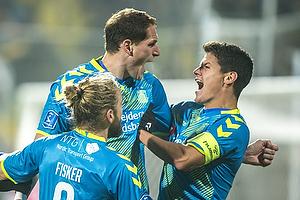 Benedikt R�cker, m�lscorer (Br�ndby IF), Christian N�rgaard, anf�rer (Br�ndby IF)