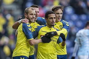 Teemu Pukki (Br�ndby IF), Kamil Wilczek (Br�ndby IF), Lasse Vigen Christensen (Br�ndby IF), Hany Mukhtar, m�lscorer (Br�ndby IF)