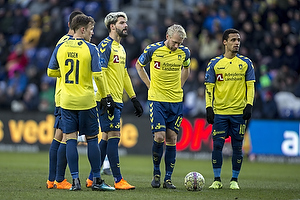 Johan Larsson, anf�rer (Br�ndby IF), Hany Mukhtar (Br�ndby IF), Anthony Jung (Br�ndby IF), Lasse Vigen Christensen (Br�ndby IF)