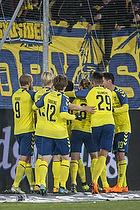 Simon Tibbling (Br�ndby IF), Kasper Fisker, m�lscorer (Br�ndby IF), $129$, Christian N�rgaard (Br�ndby IF), Teemu Pukki (Br�ndby IF)
