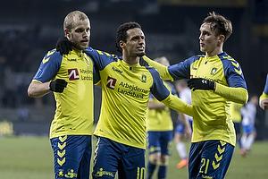 Teemu Pukki, m�lscorer (Br�ndby IF), Hany Mukhtar (Br�ndby IF), Lasse Vigen Christensen (Br�ndby IF)