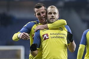 Teemu Pukki, m�lscorer (Br�ndby IF), Kamil Wilczek (Br�ndby IF)
