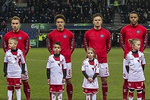 Christian Eriksen (Danmark), Thomas Delaney (Danmark), William Kvist J�rgensen (Danmark), Mathias Zanka J�rgensen (Danmark)