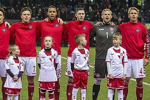 William Kvist J�rgensen (Danmark), Mathias Zanka J�rgensen (Danmark), Henrik Dalsgaard (Danmark), Kasper Schmeichel (Danmark), Simon Kj�r (Danmark)