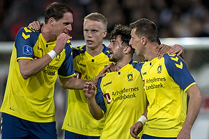 Benedikt R�cker (Br�ndby IF), Besar Halimi (Br�ndby IF), Kamil Wilczek, m�lscorer (Br�ndby IF)