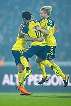 Anthony Jung, m�lscorer (Br�ndby IF), Hany Mukhtar (Br�ndby IF), Johan Larsson, anf�rer (Br�ndby IF)