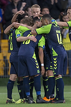 Besar Halimi (Br�ndby IF), Kevin Mensah (Br�ndby IF), Kasper Fisker, m�lscorer (Br�ndby IF)