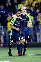 Kevin Mensah, m�lscorer (Br�ndby IF), Hj�rtur Hermannsson (Br�ndby IF)
