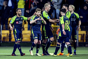 Kevin Mensah, m�lscorer (Br�ndby IF), Kasper Fisker (Br�ndby IF), Hj�rtur Hermannsson (Br�ndby IF)