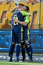 Lasse Vigen Christensen (Br�ndby IF), Kevin Mensah, m�lscorer (Br�ndby IF)