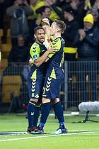 Kevin Mensah, m�lscorer (Br�ndby IF), Lasse Vigen Christensen (Br�ndby IF)