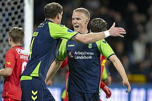 Hj�rtur Hermannsson, m�lscorer (Br�ndby IF), Benedikt R�cker (Br�ndby IF)