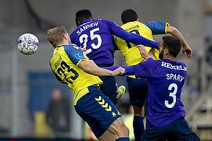 Paulus Arajuuri (Br�ndby IF), Christian N�rgaard (Br�ndby IF), Bubacarr Sanneh (FC Midtjylland), Tim Sparv (FC Midtjylland)