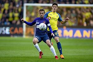 Jakob Poulsen, anf�rer (FC Midtjylland), Christian N�rgaard (Br�ndby IF)