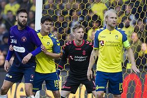 Marc Dal Hende (FC Midtjylland), Christian N�rgaard (Br�ndby IF), Frederik R�nnow (Br�ndby IF)