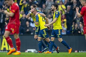 Kamil Wilczek, m�lscorer (Br�ndby IF), Benedikt R�cker (Br�ndby IF), Anthony Jung (Br�ndby IF)