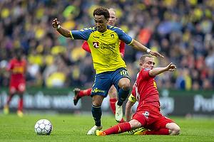 Hany Mukhtar (Br�ndby IF), Lasse Petry (FC Nordsj�lland)