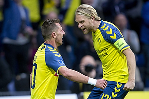 Kamil Wilczek, m�lscorer (Br�ndby IF), Johan Larsson, anf�rer (Br�ndby IF)