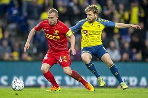 Lasse Petry (FC Nordsj�lland), Kasper Fisker (Br�ndby IF)