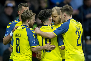 Teemu Pukki, m�lscorer (Br�ndby IF), Lasse Vigen Christensen (Br�ndby IF), Besar Halimi (Br�ndby IF), Kasper Fisker (Br�ndby IF)