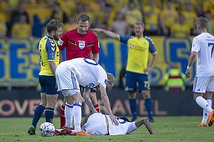 Kasper Fisker (Br�ndby IF), Jens Maae, dommer