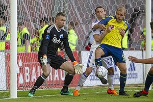 Stephan Andersen (FC K�benhavn), Teemu Pukki (Br�ndby IF), Peter Ankersen (FC K�benhavn)