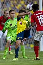 Peter Friis Jensen (Silkeborg IF), Besar Halimi (Br�ndby IF)