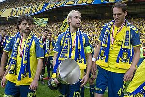 Besar Halimi (Br�ndby IF), Johan Larsson, anf�rer (Br�ndby IF), Benedikt R�cker (Br�ndby IF)