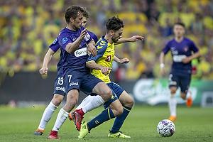 Besar Halimi (Br�ndby IF), Jakob Poulsen (FC Midtjylland)