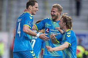 Benedikt R�cker, m�lscorer (Br�ndby IF), Paulus Arajuuri (Br�ndby IF), Simon Tibbling (Br�ndby IF)