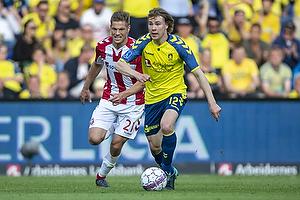 Simon Tibbling (Br�ndby IF), Kasper Risg�rd (Aab)