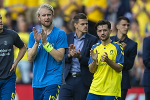 Johan Larsson, anf�rer (Br�ndby IF), Besar Halimi (Br�ndby IF)