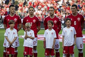 William Kvist J�rgensen (Danmark), Jens Stryger Larsen (Danmark), Christian Eriksen (Danmark), Andreas Christensen (Danmark)