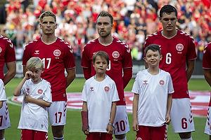 Jens Stryger Larsen (Danmark), Christian Eriksen (Danmark), Andreas Christensen (Danmark)