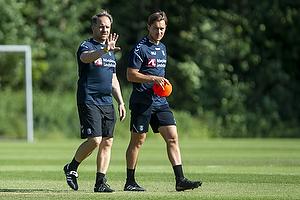 Alexander Zorniger, cheftr�ner (Br�ndby IF), Matthias Jaissle (Br�ndby IF)