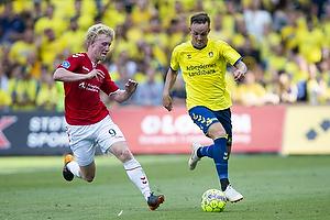 Lasse Vigen Christensen (Br�ndby IF), Tobias M�lgaard (Vejle BK)