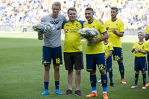 Nikolai Laursen (Br�ndby IF), Lasse Hjorth, formand (Br�ndby Support) , Josip Radosevic (Br�ndby IF)